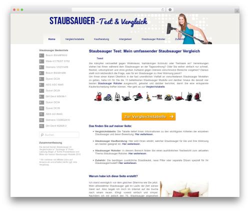 Twenty Eleven WordPress website template - staubsauger-tester.de