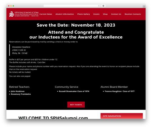 WordPress theme Cardinal - sphsalumni.com