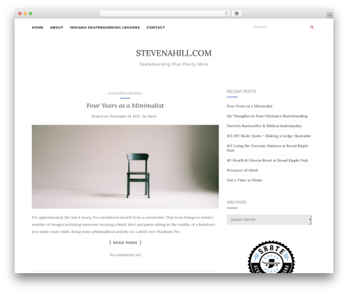 Activello free WordPress theme - stevenahill.com