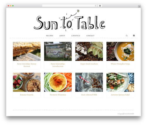 Recipes WordPress theme - suntotable.com