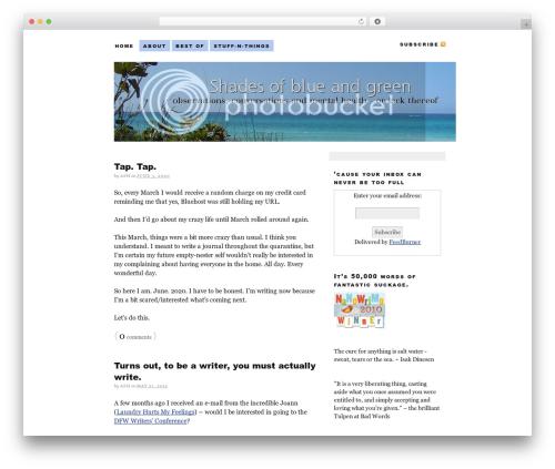 WordPress author-info-widget plugin - shadesofblueandgreen.com