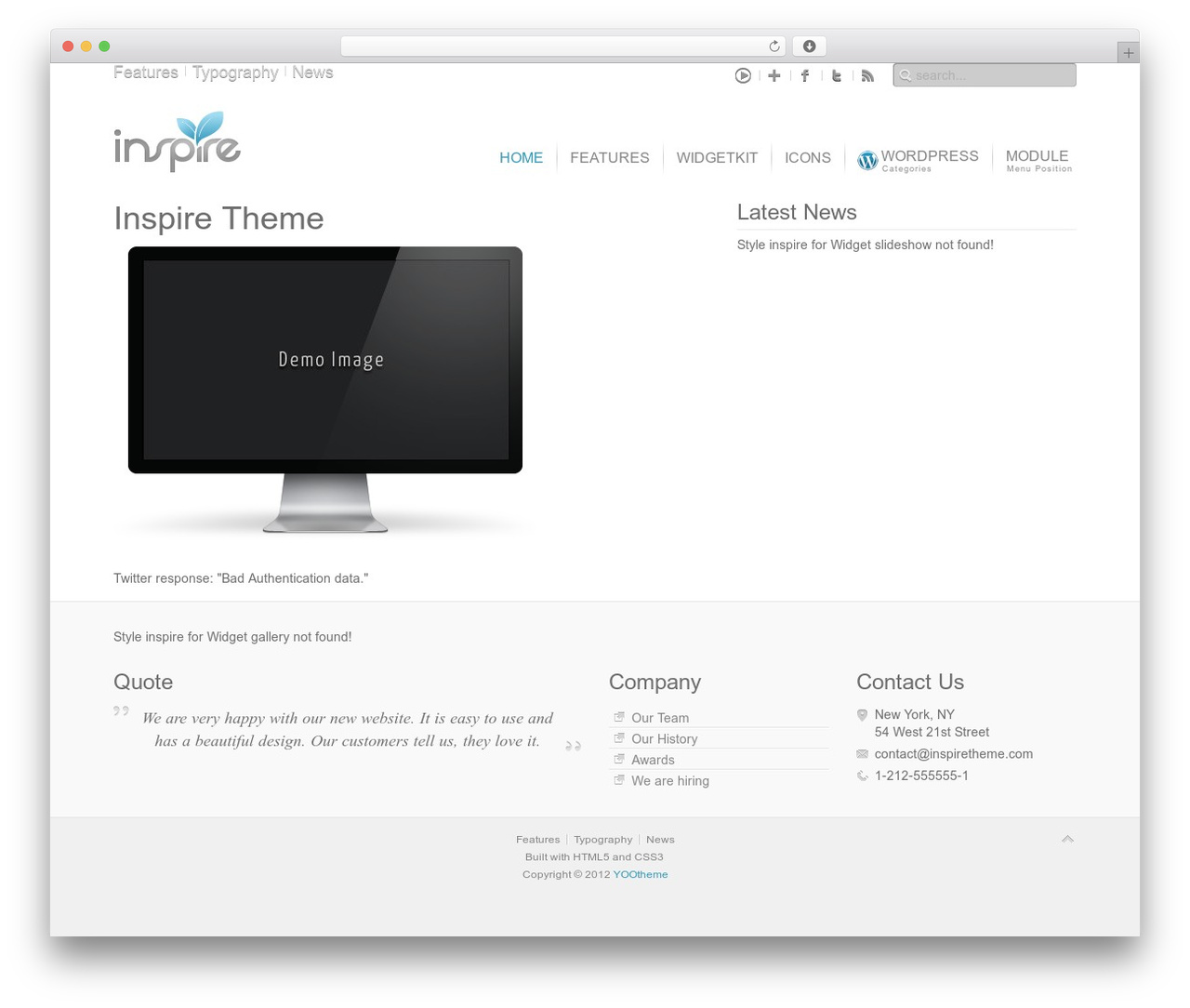 Theme WordPress Inspire - sun-chek.com