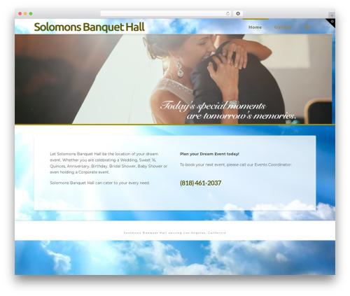 X WordPress theme - solomonsbanquethall.com