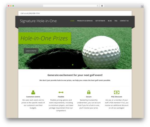 Corpo premium WordPress theme - signatureholeinone.net
