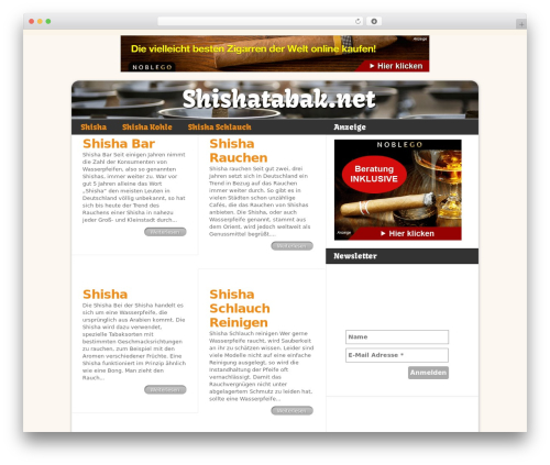 Delicate News theme WordPress - shishatabak.net