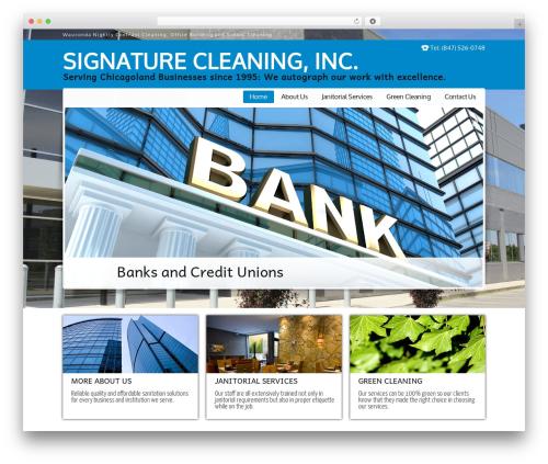 JanitorV6 best WordPress template - signaturecleaning.com
