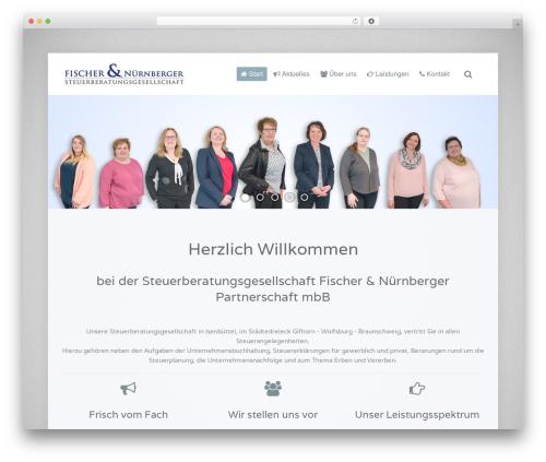 Lava WordPress website template - steuerberater-fischer-nuernberger.de