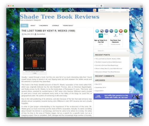 Sensation WordPress theme - shadetreebookreviews.com
