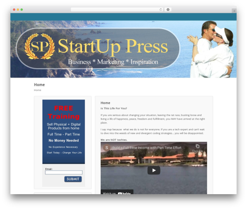 Wordpost free website theme - startuppress.com