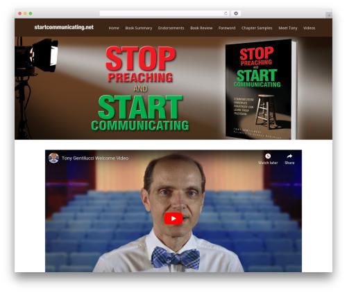 WordPress theme FlatBook - startcommunicating.net