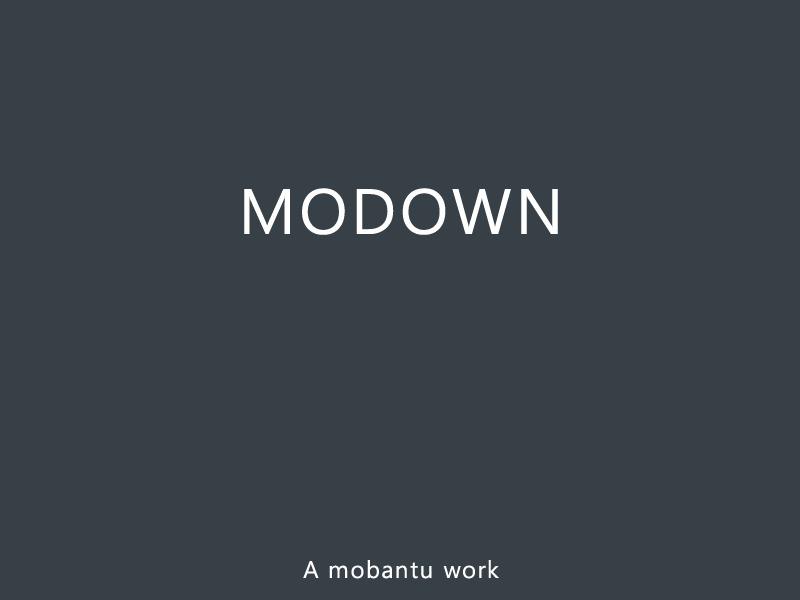 Mobantu-Modown WordPress template