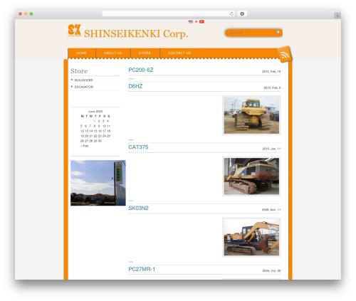Snowblind free WP theme - shinseikk.com