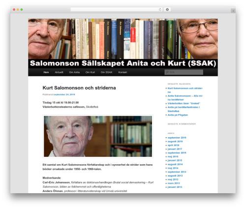 Twenty Eleven free website theme - ssak.se