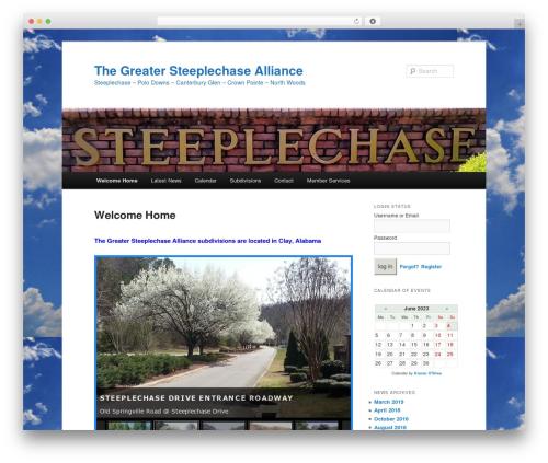 Twenty Eleven WordPress theme - steeplechaseclay.com