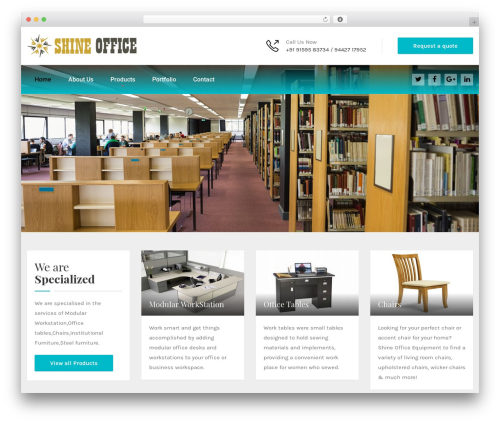 Best WordPress theme HnK - shineoffice.in