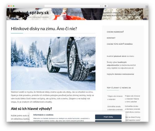 Cell WordPress theme download - snehovespravy.sk