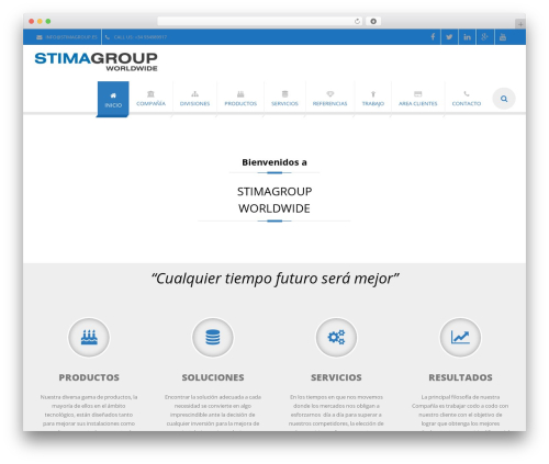 EXCEPTION WordPress theme design - stimagroup.es