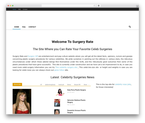 Newspaper WordPress theme - surgeryrate.com
