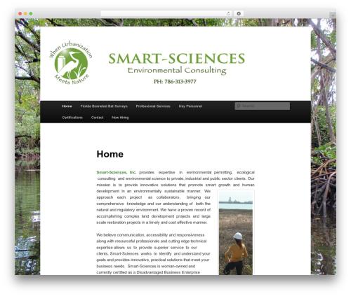 WordPress theme Twenty Eleven - smart-sciences.com