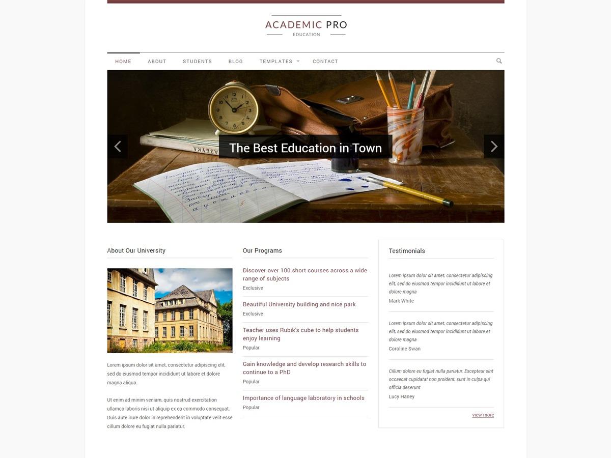 AcademicTS business WordPress theme