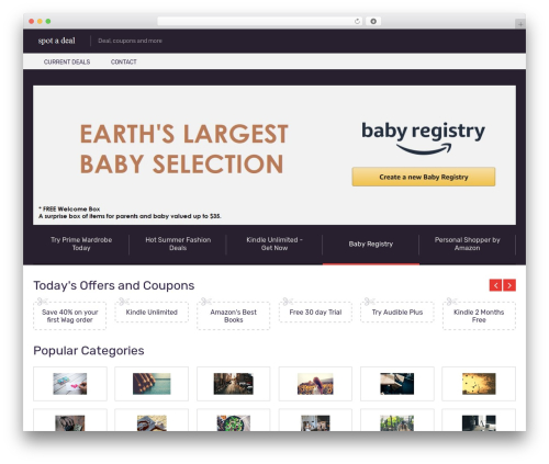 Coupon by MyThemeShop WordPress ecommerce template - spotadeal.com
