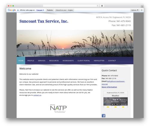 Customized company WordPress theme - suncoasttaxservice.net