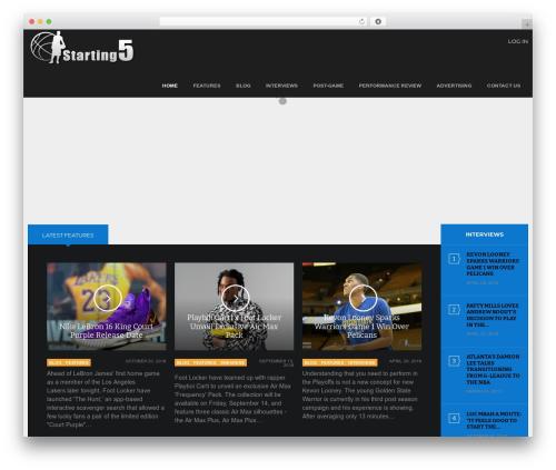 Game WordPress gaming theme - starting5online.com