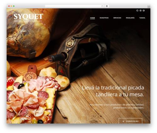 Jupiter top WordPress theme - syquet.com.ar