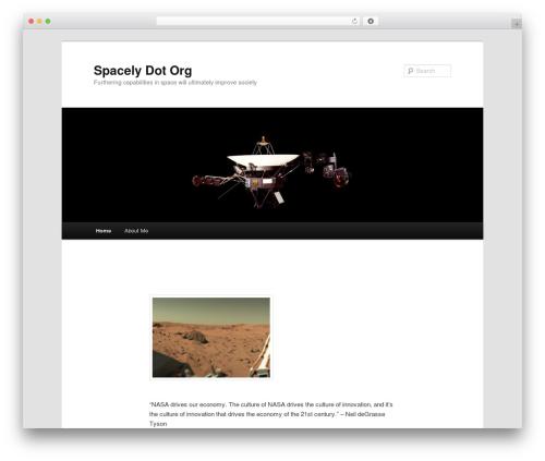 Theme WordPress Twenty Eleven - spacely.org