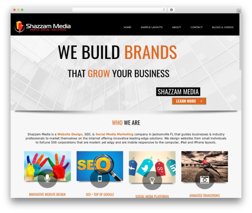 WordPress template Subway - shazzam-media.com