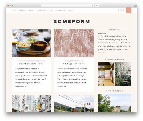WordPress theme Florence - someform.com