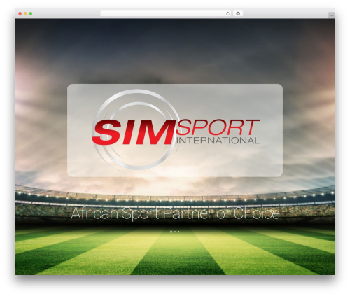 Best WordPress template Leafage - simsport.co.za