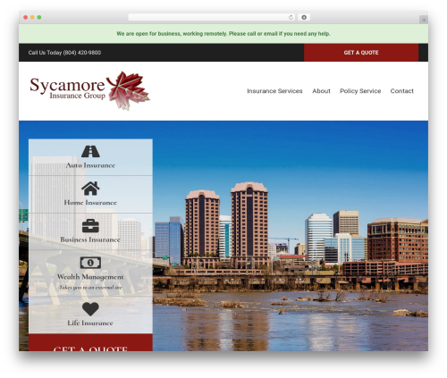 BrightFire Stellar premium WordPress theme - sycamoreinsgroup.com