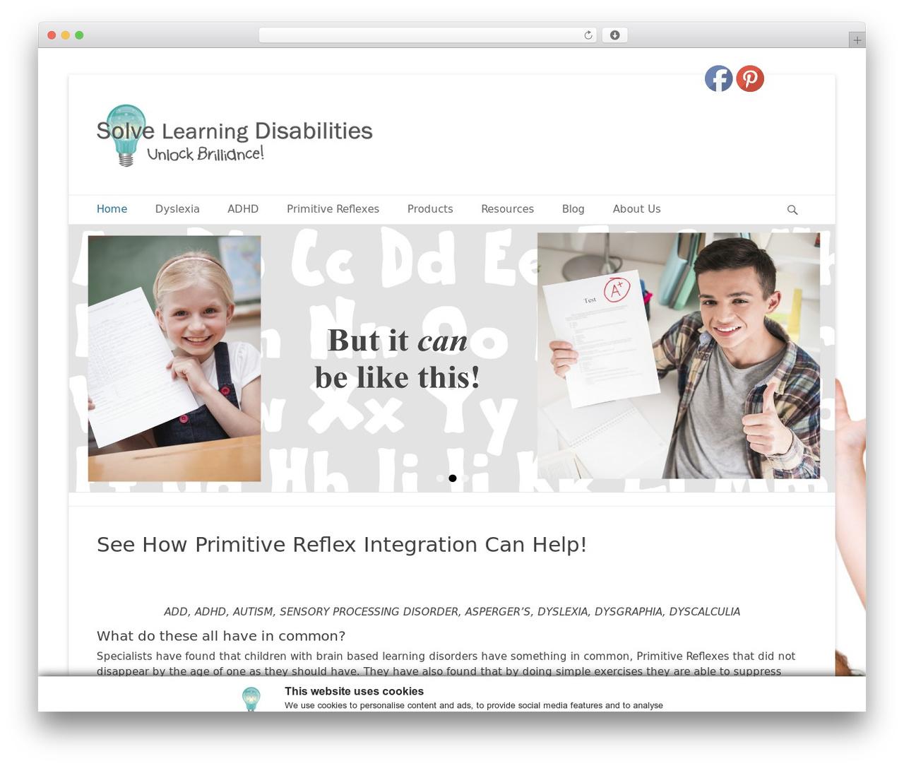 Catch Base Pro theme WordPress - solvelearningdisabilities.com