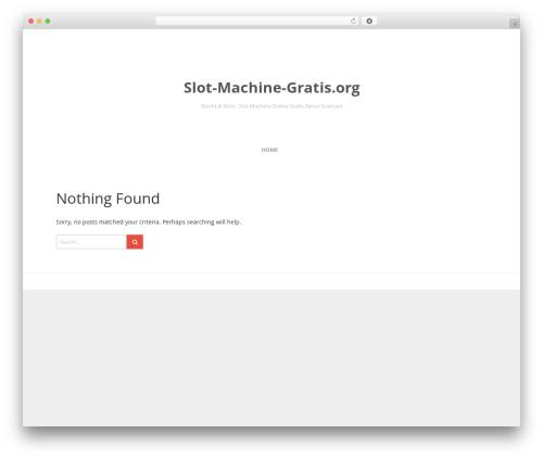 Entrance WordPress website template - slot-machine-gratis.org