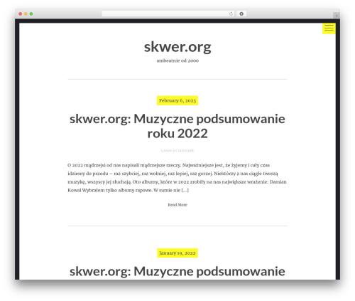 hexo WordPress theme download - skwer.org