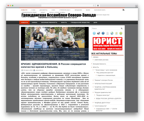 Inner theme WordPress - spbpalata.ru