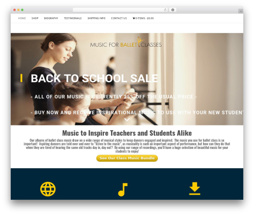 Sanremo free WordPress theme - musicforballetclasses.com