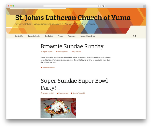 Twenty Thirteen WordPress theme - sjlcyuma.com