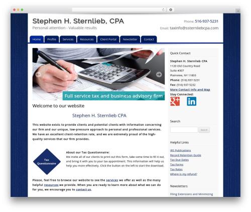Customized company WordPress theme - ssternliebcpa.com