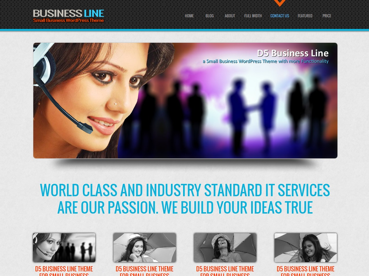 D5 Business Line company WordPress theme