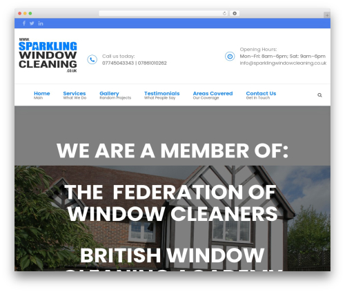 FastMoving best WordPress template - sparklingwindowcleaning.co.uk