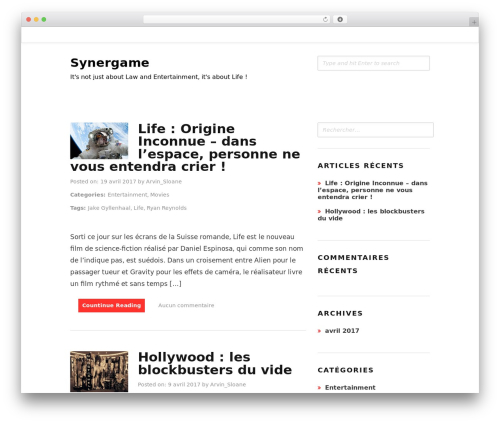 Hayley WordPress theme free download - synergame.com