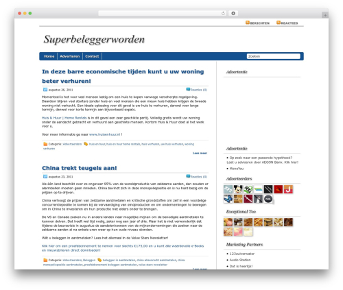 Regal WordPress theme - superbeleggerworden.nl