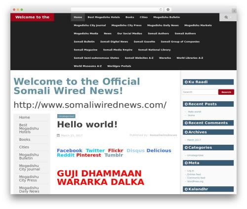 SmartAdapt free WP theme - somaliwirednews.com