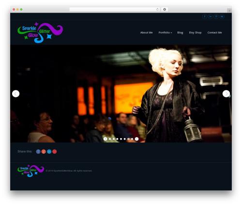 The7 fashion WordPress theme - sparkleglitterglow.com