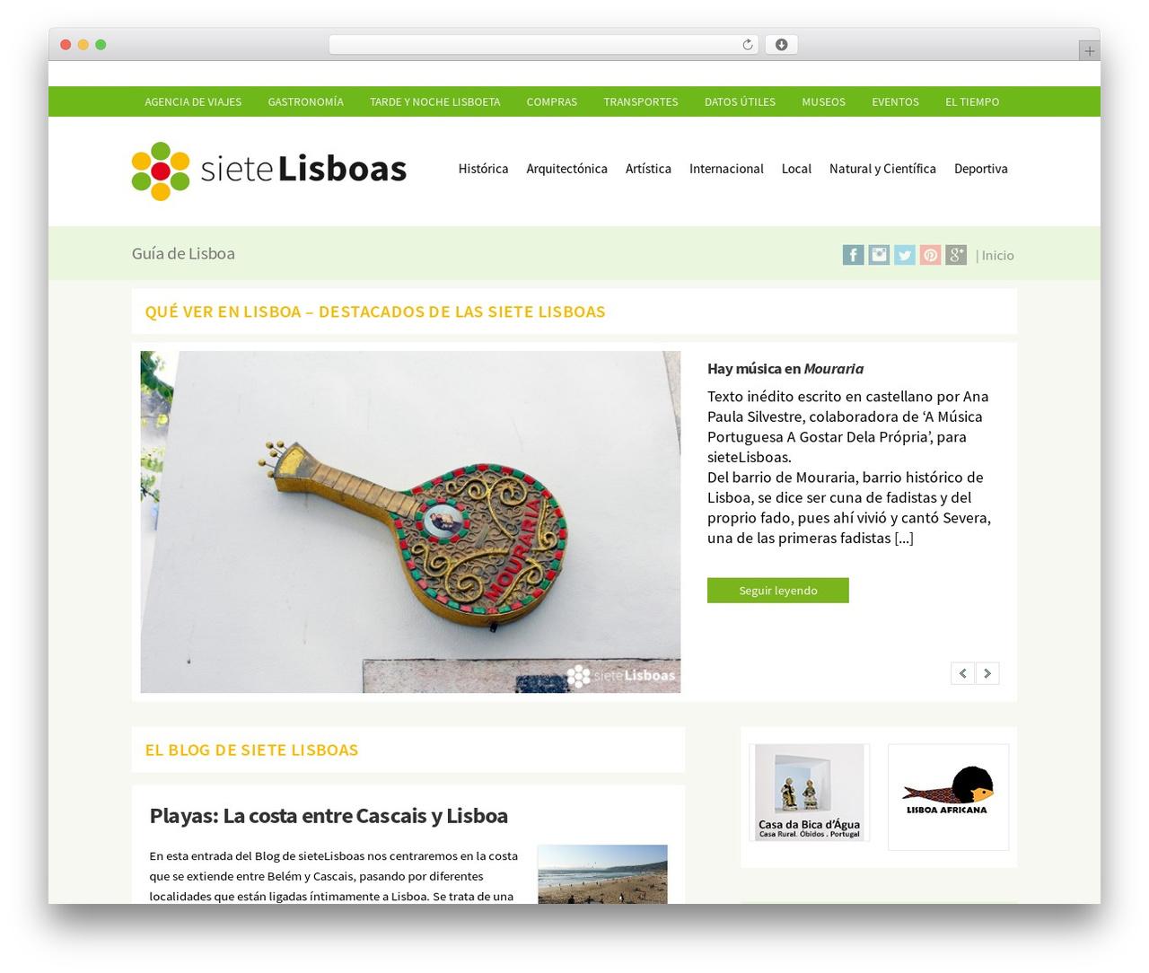 WP-Brilliance WordPress blog template - sietelisboas.com