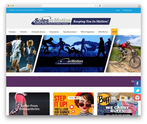 Captiva WordPress ecommerce theme - solesinmotion.ca