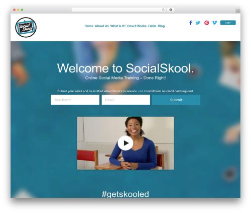 LaunchKit theme WordPress - socialskool.com