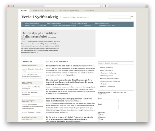 Mimbo best WordPress theme - sydfrankrigsferie.dk